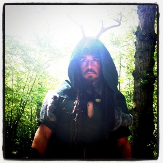 "Seán George as The Horned God in ""The Spirit of Albion: the Movie"""