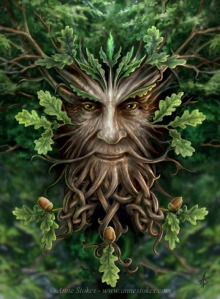 The Oak King by Anne Stokes