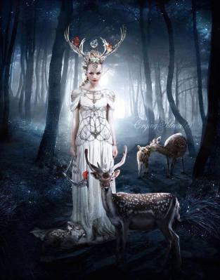 antlered goddess