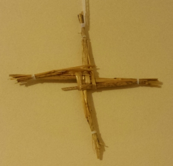 Brigid's Cross, made Imbolc 2015