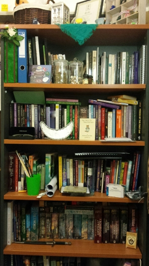 My bookshelf in it's current form.